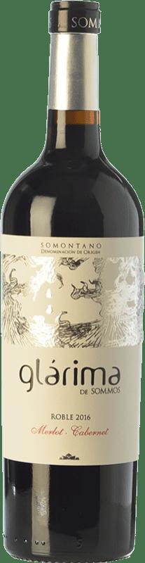 7,95 € 免费送货 | 红酒 Sommos Glárima Roble D.O. Somontano 阿拉贡 西班牙 Tempranillo, Merlot, Cabernet Sauvignon 瓶子 75 cl