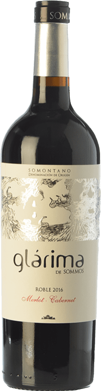 7,95 € Envío gratis | Vino tinto Sommos Glárima Roble D.O. Somontano Aragón España Tempranillo, Merlot, Cabernet Sauvignon Botella 75 cl