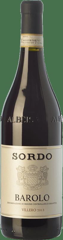 48,95 € 免费送货 | 红酒 Sordo Villero D.O.C.G. Barolo 皮埃蒙特 意大利 Nebbiolo 瓶子 75 cl