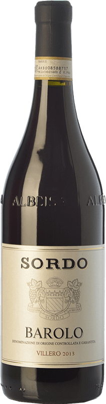 48,95 € Envío gratis | Vino tinto Sordo Villero D.O.C.G. Barolo Piemonte Italia Nebbiolo Botella 75 cl