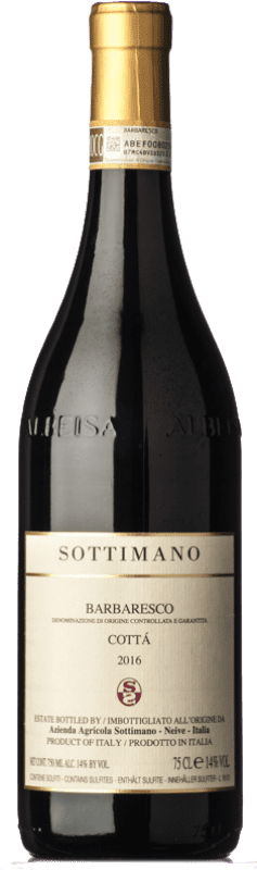 89,95 € 免费送货 | 红酒 Sottimano Cottà D.O.C.G. Barbaresco 皮埃蒙特 意大利 Nebbiolo 瓶子 75 cl