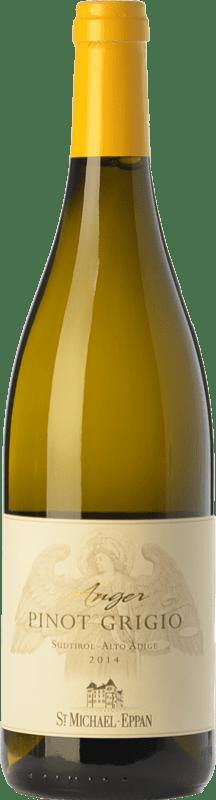 15,95 € Envío gratis | Vino blanco St. Michael-Eppan Pinot Grigio Anger D.O.C. Alto Adige Trentino-Alto Adige Italia Pinot Gris Botella 75 cl