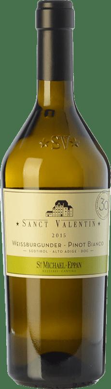 29,95 € Envío gratis | Vino blanco St. Michael-Eppan Sanct Valentin Pinot Bianco D.O.C. Alto Adige Trentino-Alto Adige Italia Pinot Blanco Botella 75 cl