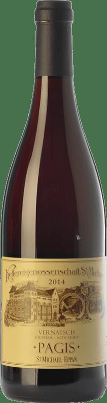 12,95 € | Red wine St. Michael-Eppan Vernatsch Pagis D.O.C. Alto Adige Trentino-Alto Adige Italy Schiava Gentile Bottle 75 cl