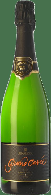 19,95 € Envoi gratuit | Blanc moussant Sumarroca Grand Cuvée Brut Nature D.O. Cava Catalogne Espagne Chardonnay, Parellada Bouteille 75 cl