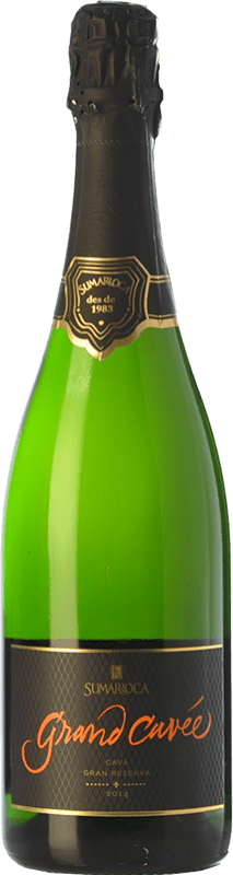 19,95 € Envío gratis | Espumoso blanco Sumarroca Grand Cuvée Brut Nature D.O. Cava Cataluña España Chardonnay, Parellada Botella 75 cl