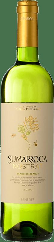 6,95 € Envío gratis | Vino blanco Sumarroca Blanc de Blancs Joven D.O. Penedès Cataluña España Macabeo, Xarel·lo, Parellada Botella 75 cl
