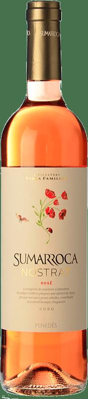 6,95 € Free Shipping | Rosé wine Sumarroca Rosat Joven D.O. Penedès Catalonia Spain Tempranillo, Merlot, Syrah Bottle 75 cl
