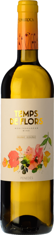 10,95 € Free Shipping | White wine Sumarroca Temps de Flors D.O. Penedès Catalonia Spain Xarel·lo, Gewürztraminer, Muscatel Small Grain Bottle 75 cl