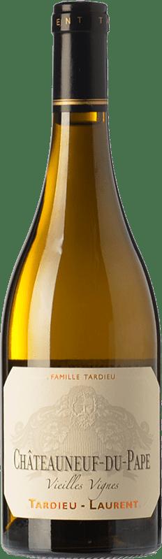59,95 € Free Shipping | White wine Tardieu-Laurent Vieilles Vignes Blanc Crianza A.O.C. Châteauneuf-du-Pape Rhône France Grenache White, Roussanne, Clairette Blanche Bottle 75 cl