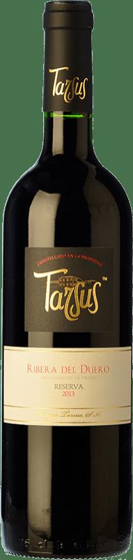 27,95 € Envío gratis | Vino tinto Tarsus Reserva D.O. Ribera del Duero Castilla y León España Tempranillo, Cabernet Sauvignon Botella 75 cl
