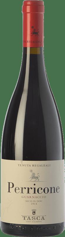 11,95 € 免费送货 | 红酒 Tasca d'Almerita Guarnaccio I.G.T. Terre Siciliane 西西里岛 意大利 Perricone 瓶子 75 cl