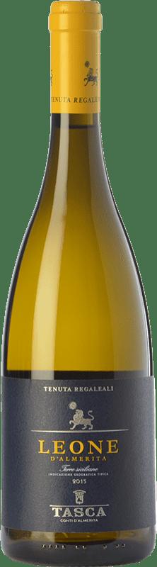 15,95 € 免费送货 | 白酒 Tasca d'Almerita Leone I.G.T. Terre Siciliane 西西里岛 意大利 Gewürztraminer, Pinot White, Sauvignon, Catarratto 瓶子 75 cl