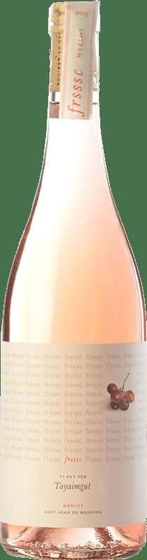 8,95 € Free Shipping | Rosé wine Tayaimgut Fresc Rosat D.O. Penedès Catalonia Spain Merlot Bottle 75 cl
