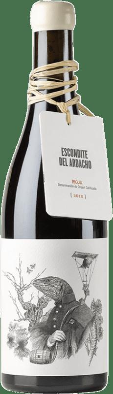 29,95 € Envío gratis | Vino tinto Tentenublo Escondite del Ardacho El Abundillano Joven D.O.Ca. Rioja La Rioja España Tempranillo, Garnacha, Viura, Malvasía Botella 75 cl