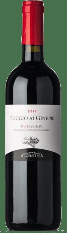 23,95 € Free Shipping | Red wine Tenuta Argentiera Poggio ai Ginepri D.O.C. Bolgheri Tuscany Italy Merlot, Syrah, Cabernet Sauvignon, Petit Verdot Bottle 75 cl