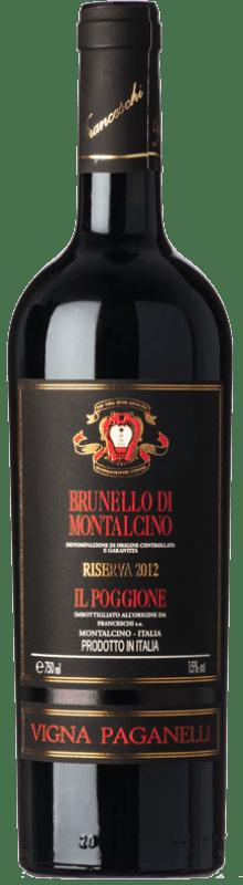 91,95 € | Red wine Il Poggione Riserva Vigna Paganelli Reserva 2010 D.O.C.G. Brunello di Montalcino Tuscany Italy Sangiovese Bottle 75 cl