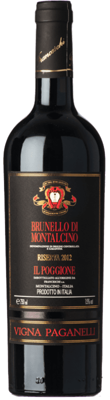 78,95 € Envío gratis | Vino tinto Il Poggione Riserva Vigna Paganelli Reserva 2010 D.O.C.G. Brunello di Montalcino Toscana Italia Sangiovese Botella 75 cl