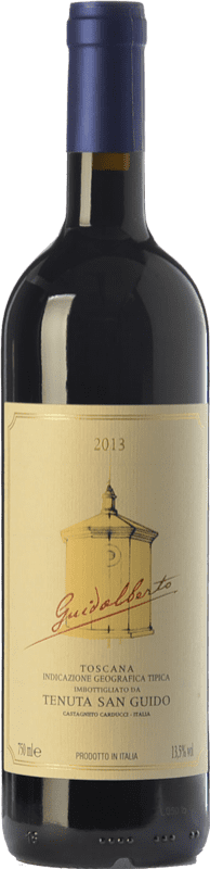 37,95 € | Red wine San Guido Guidalberto I.G.T. Toscana Tuscany Italy Merlot, Cabernet Sauvignon Bottle 75 cl