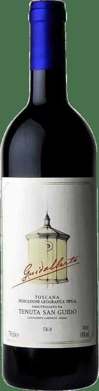 37,95 € 免费送货 | 红酒 San Guido Guidalberto I.G.T. Toscana 托斯卡纳 意大利 Merlot, Cabernet Sauvignon 瓶子 75 cl