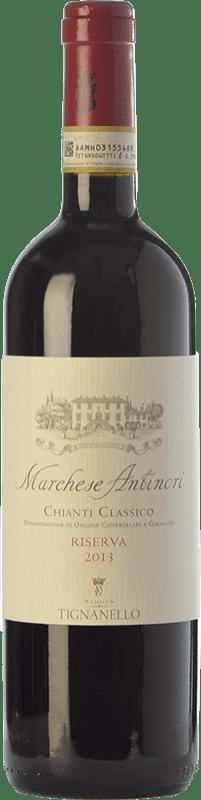 36,95 € Free Shipping | Red wine Antinori Tignanello Marchesi Antinori Riserva Reserva D.O.C.G. Chianti Classico Tuscany Italy Cabernet Sauvignon, Sangiovese Bottle 75 cl