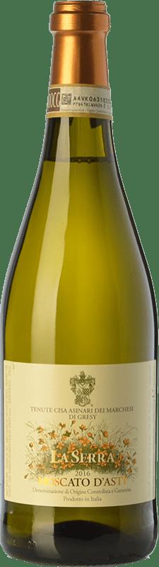 11,95 € Free Shipping | Sweet wine Cisa Asinari Marchesi di Grésy La Serra D.O.C.G. Moscato d'Asti Piemonte Italy Muscat White Bottle 75 cl