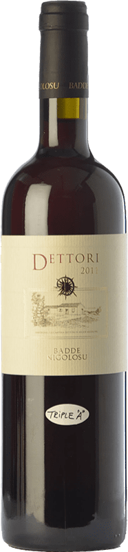 56,95 € Envío gratis | Vino tinto Dettori Rosso I.G.T. Romangia Sardegna Italia Cannonau Botella 75 cl