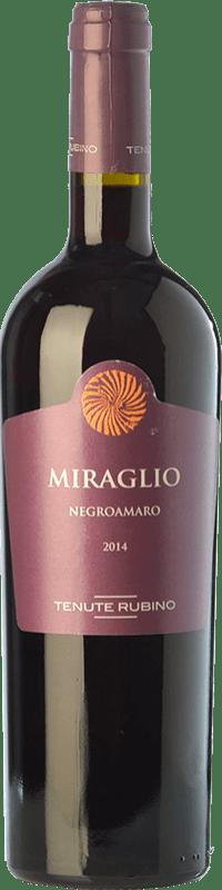 15,95 € Free Shipping | Red wine Tenute Rubino Miraglio I.G.T. Salento Campania Italy Negroamaro Bottle 75 cl