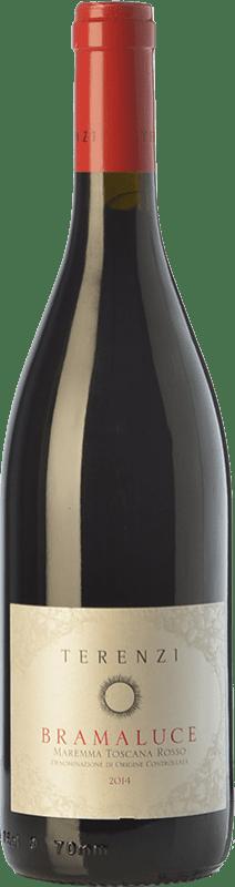 12,95 € | Red wine Terenzi Bramaluce D.O.C. Maremma Toscana Tuscany Italy Syrah, Sangiovese Bottle 75 cl
