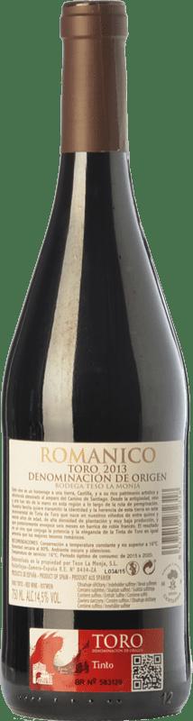 9,95 € Free Shipping | Red wine Teso La Monja Románico Joven D.O. Toro Castilla y León Spain Tinta de Toro Bottle 75 cl
