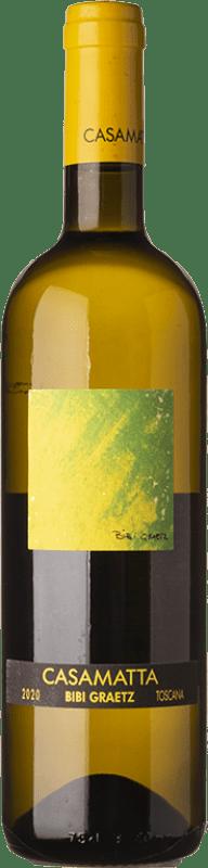 18,95 € Free Shipping   White wine Bibi Graetz Casamatta Bianco I.G.T. Toscana Tuscany Italy Trebbiano, Vermentino, Muscat White Bottle 75 cl