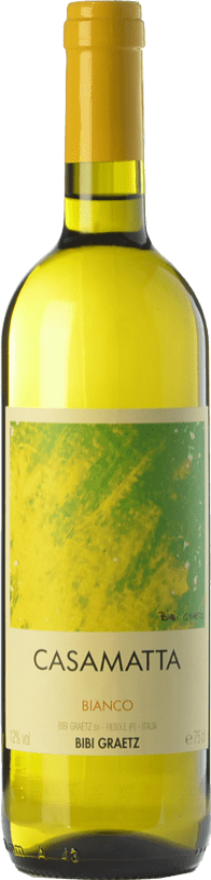9,95 € Free Shipping | White wine Bibi Graetz Casamatta Bianco I.G.T. Toscana Tuscany Italy Trebbiano, Vermentino, Muscatel White Bottle 75 cl