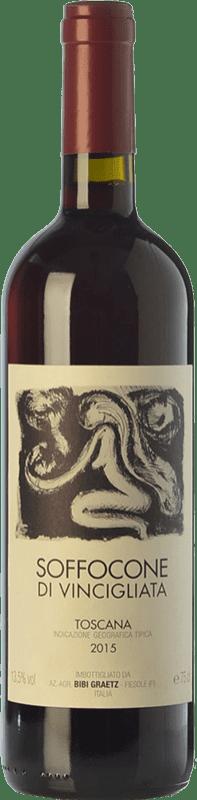 31,95 € Free Shipping | Red wine Bibi Graetz Soffocone di Vincigliata I.G.T. Toscana Tuscany Italy Sangiovese, Colorino, Canaiolo Bottle 75 cl