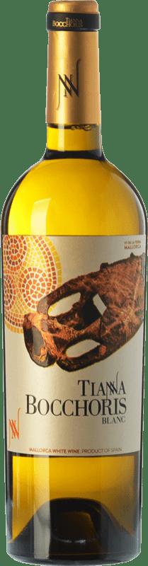 17,95 € Envío gratis | Vino blanco Tianna Negre Bocchoris Blanc Crianza I.G.P. Vi de la Terra de Mallorca Islas Baleares España Sauvignon Blanca, Premsal, Giró Ros Botella 75 cl