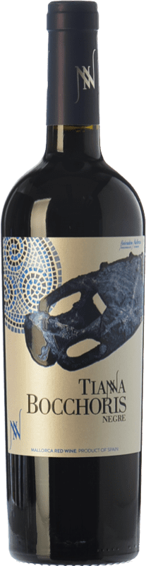 15,95 € Free Shipping | Red wine Tianna Negre Bocchoris Negre Joven D.O. Binissalem Balearic Islands Spain Merlot, Syrah, Cabernet Sauvignon, Callet, Mantonegro Bottle 75 cl