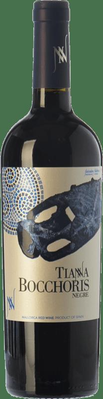 15,95 € Envío gratis | Vino tinto Tianna Negre Bocchoris Negre Joven D.O. Binissalem Islas Baleares España Merlot, Syrah, Cabernet Sauvignon, Callet, Mantonegro Botella 75 cl