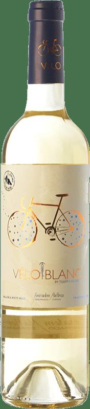 16,95 € Envío gratis | Vino blanco Tianna Negre Ses Nines Vélo Blanc Ecològic D.O. Binissalem Islas Baleares España Mantonegro, Premsal Botella 75 cl