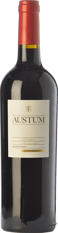 9,95 € Free Shipping | Red wine Tionio Austum Joven D.O. Ribera del Duero Castilla y León Spain Tempranillo Bottle 75 cl