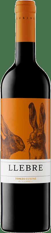 8,95 € Free Shipping | Red wine Tomàs Cusiné Llebre Joven D.O. Costers del Segre Catalonia Spain Tempranillo, Merlot, Syrah, Grenache, Cabernet Sauvignon, Carignan Bottle 75 cl