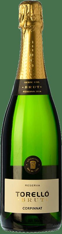 11,95 € Free Shipping | White sparkling Torelló Brut Reserva D.O. Cava Catalonia Spain Macabeo, Xarel·lo, Parellada Bottle 75 cl