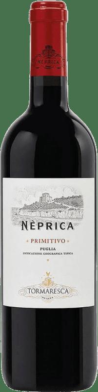 8,95 € Envío gratis   Vino tinto Tormaresca Neprica I.G.T. Puglia Puglia Italia Cabernet Sauvignon, Primitivo, Negroamaro Botella 75 cl