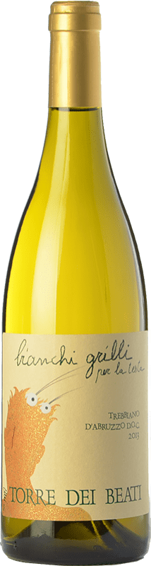 21,95 € Free Shipping | White wine Torre dei Beati Bianchi Grilli D.O.C. Trebbiano d'Abruzzo Abruzzo Italy Trebbiano Bottle 75 cl