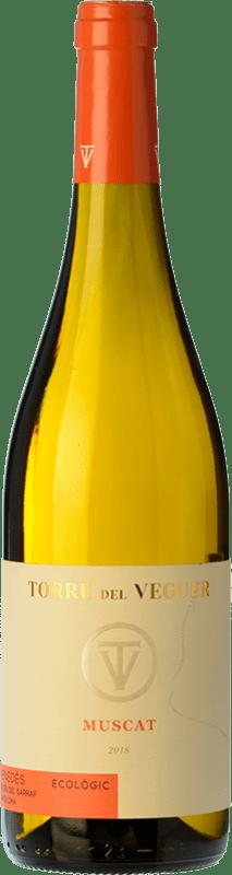 8,95 € Free Shipping | White wine Torre del Veguer Muscat D.O. Penedès Catalonia Spain Muscatel Small Grain, Malvasía de Sitges Bottle 75 cl