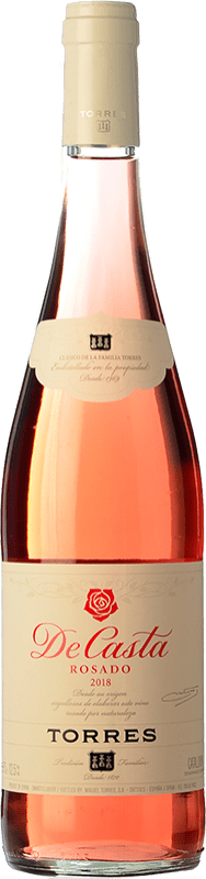 6,95 € | Rosé wine Torres De Casta Joven D.O. Catalunya Catalonia Spain Grenache, Carignan Bottle 75 cl