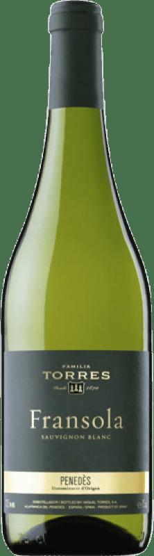 24,95 € 免费送货 | 白酒 Torres Fransola Crianza D.O. Penedès 加泰罗尼亚 西班牙 Sauvignon White, Parellada 瓶子 75 cl