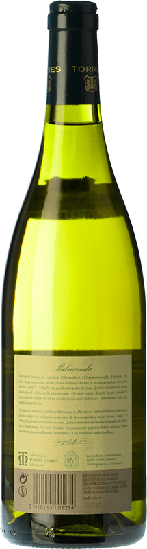 72,95 € Free Shipping | White wine Torres Milmanda Crianza D.O. Penedès Catalonia Spain Chardonnay Bottle 75 cl