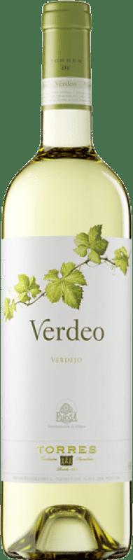 8,95 € | Vino blanco Torres Verdeo D.O. Rueda Castilla y León España Verdejo Botella 75 cl