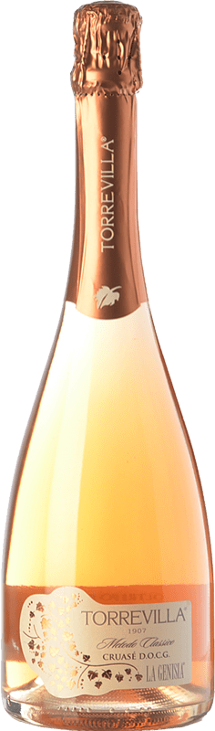 8,95 € Free Shipping | White sparkling Torrevilla La Genisia Cruasé D.O.C.G. Oltrepò Pavese Metodo Classico Lombardia Italy Pinot Black Bottle 75 cl