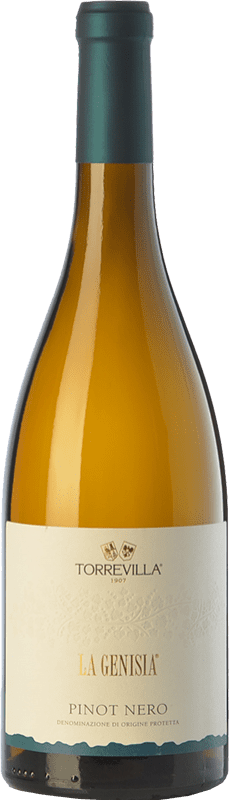 12,95 € Free Shipping | White sparkling Torrevilla La Genisia Pinot Nero Frizzante D.O.C. Oltrepò Pavese Lombardia Italy Pinot Black Bottle 75 cl