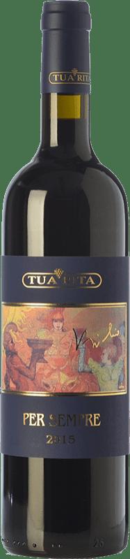 202,95 € 免费送货 | 红酒 Tua Rita Per Sempre I.G.T. Toscana 托斯卡纳 意大利 Syrah 瓶子 75 cl